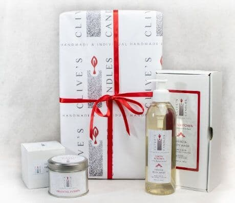 Candle  & Body Wash Gift Set with Christmas Fragrances
