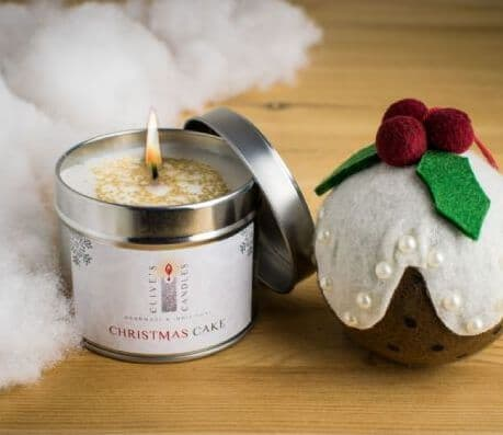 Christmas Cake Scented Candle, Brandied Fruit & Marzipan