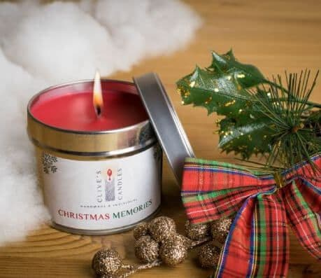 Christmas Memories Scented Candle, Oranges, Lemons & Christmas Spices
