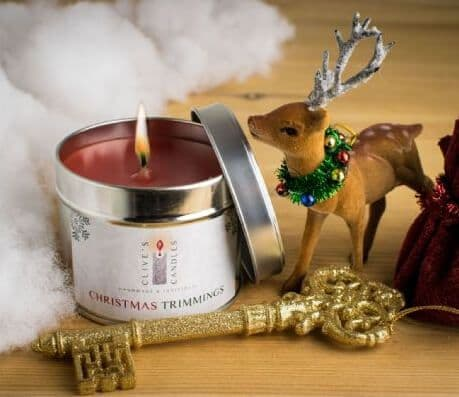Christmas Trimmings Scented Candle, Orange & Cranberry