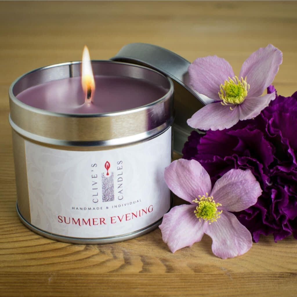Summer Evening Scented Candle, Bluebells & Sweet Peas