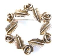 Vintage ' Antique Rose ' Brooch By Sarah Coventry.