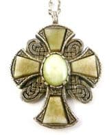 Vintage Celtic Style St Margarets Cross Desogn Necklace By Miracle.