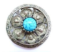 Vintage Classical Design Cherub And Byzantine Emperor Brooch By Miracle