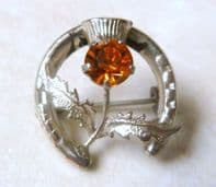Vintage Dainty Sterling Silver Scottish Thistle Flower Wbs Ward Brothers Brooch.