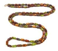 Vintage Long Length Scottish Murano Glass Style Necklace.
