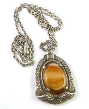 Vintage Miracle Celtic StyleRibbon Pendant And Necklace.