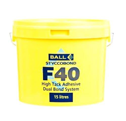F Ball F40 15 Ltr High Tack Adhesive - Dual Bond System Adhesive