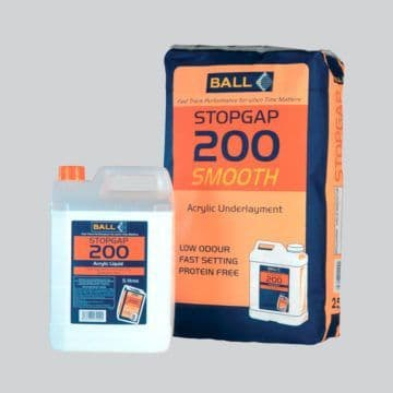 F Ball Stopgap 200 25kg Smoothing Underlayment/F Ball Stopgap 200 5 Ltr Liquid