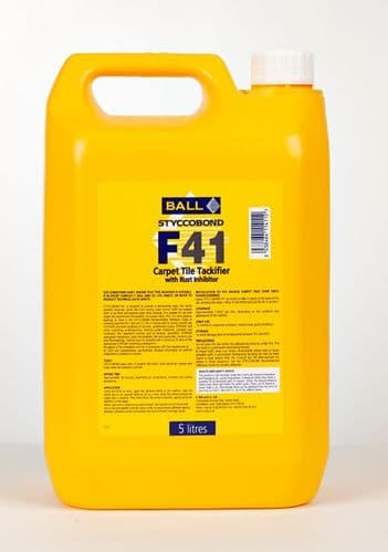 F Ball Styccobond F41 5 Ltr Carpet Tile Tackifier