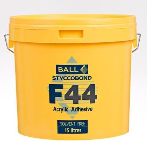 F Ball Styccobond F44 15 Ltr Acrylic Adhesive