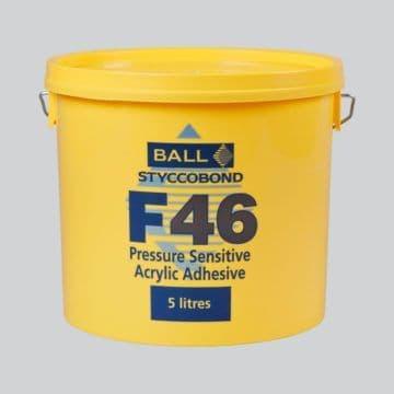 F Ball Styccobond F46 5 Ltr Pressure Sensitive Acrylic Adhesive