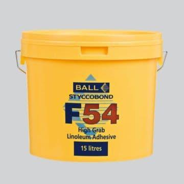 F Ball Styccobond F54 15 Ltr High Grab Linoleum Adhesive