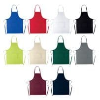 100% Cotton Apron Chef Catering Adjustable & Front Pocket