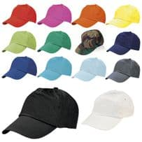 100% Cotton Baseball Caps - 12 Colours