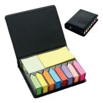 1600 Sticky Note Set in Leather Look Display Box