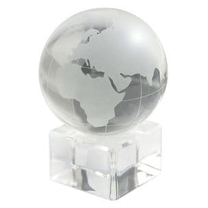 Clear and Frosted Glass Globe Decorative Ornament - Home Office Décor and Executive Paperweight