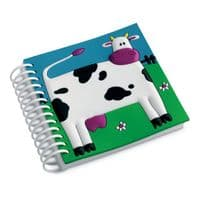 Cow Spiral Notebook Pad Plain Journal Diary Farm Shop Kids Party Bag Filler