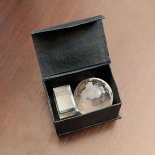 Frosted Glass Paperweight Globe Ornament