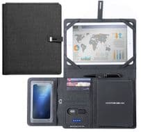 IPAD IPHONE TABLET Holder 5000mAh Power Bank Business Office Organiser Folder UK