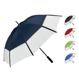 Large Manual Opening Vented Two Tone Golf Umbrella