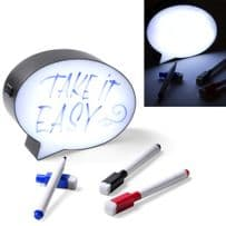 LED Light Up Box Speech Bubble