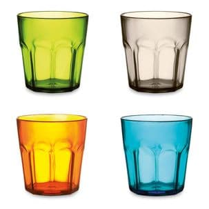 Pack of Eight 400ml Plastic Colourful Cups