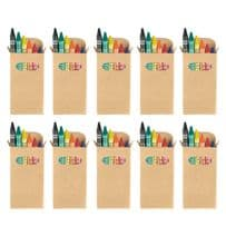 Pack of Ten Colouring Wax Crayons