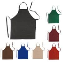 Pack of Ten Cotton Aprons with Front Pocket