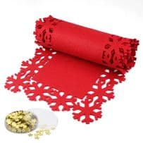 Snowflake Table Runner with Free Confetti