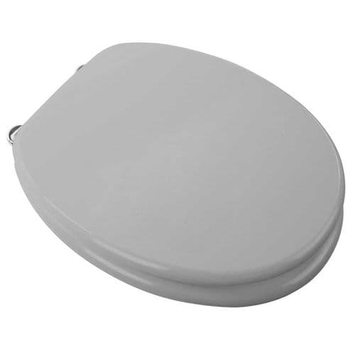 Arley Silver Willow Wood Effect MDF Easy Clean Anti Bacteria Toilet Seat - 237206SLV
