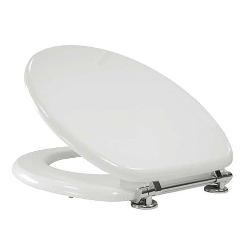 Arley Willow White MDF Standard Quick Release Easy Clean Standard Toilet Seat -237206WH