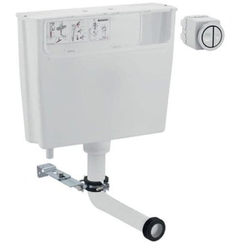 Geberit  Pneumatic Operated Concealed Dual Flush Cistern & button (109.724.21.1) To Replace 109.720