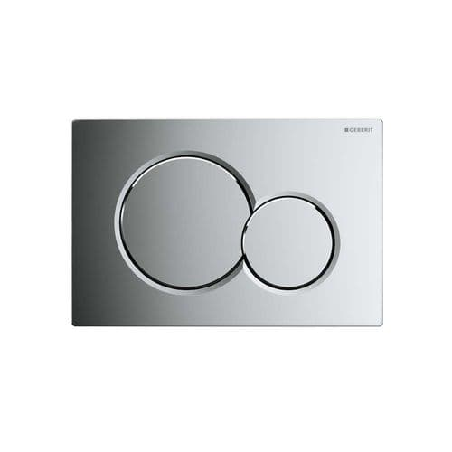 Geberit Sigma01 Gloss Chrome Dual Flush Plate - 115.770.21.5