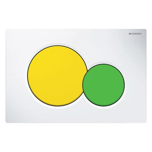 Geberit Sigma01 White/Yellow/Green Dual Flush Plate - 115.770.LA.5