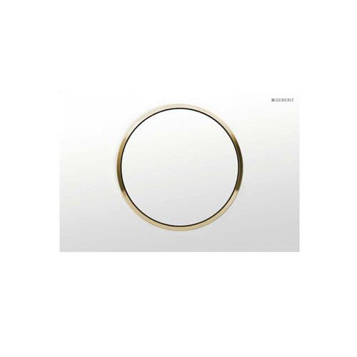 Geberit Sigma10 White/Gold/White Single Flush Plate - 115.758.KK.5