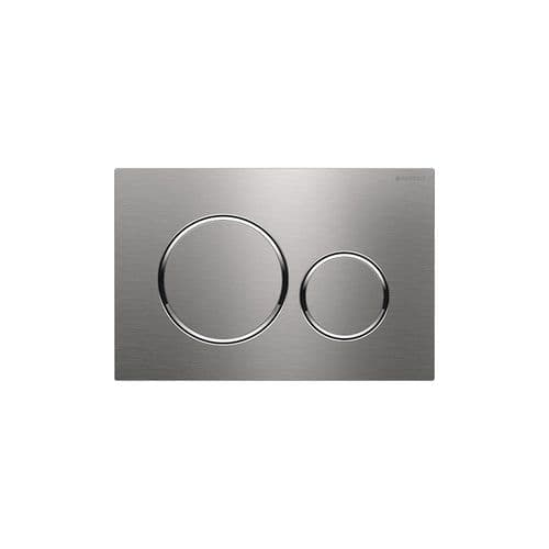 Geberit Sigma20 Stainless Steel Dual Flush Plate - 115.882.SN.1