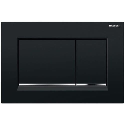 Geberit Sigma30 Black/Gloss Chrome/Black Dual Flush Plate - 115.883.KM.1