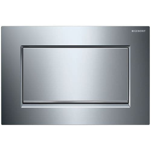 Geberit Sigma30  Gloss Chrome/Brushed Chrome Anti Vandal Single Flush Plate - 115.893.KY.1