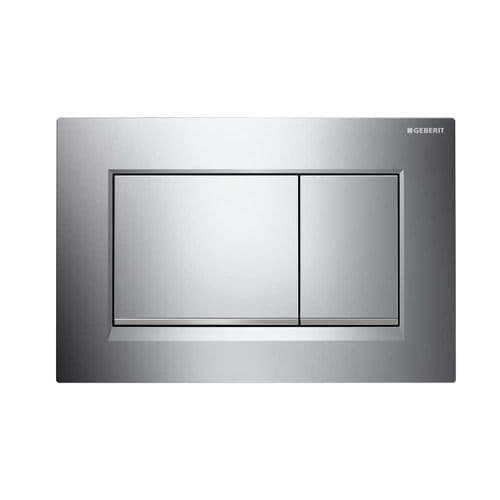 Geberit Sigma30 Gloss/Matt Chrome/Gloss Dual Flush Plate - 115.883.KH.1