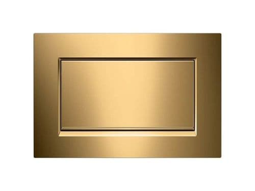 Geberit  Sigma30 Gold Plated Anti Vandal Single Flush Plate - 115.893.45.1