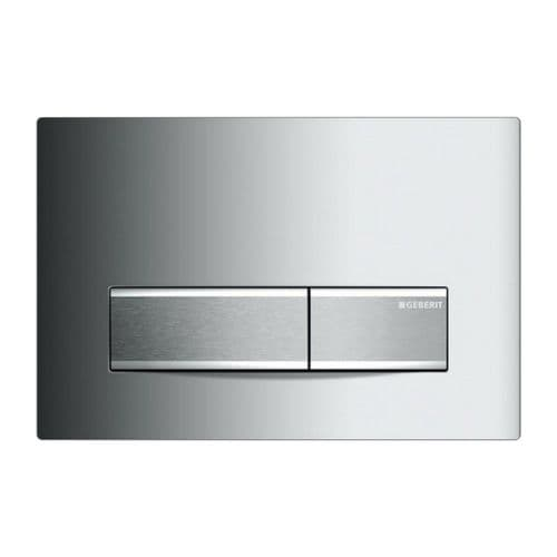 Geberit Sigma50 Gloss Chrome Dual Flush Plate - 115.788.21.5