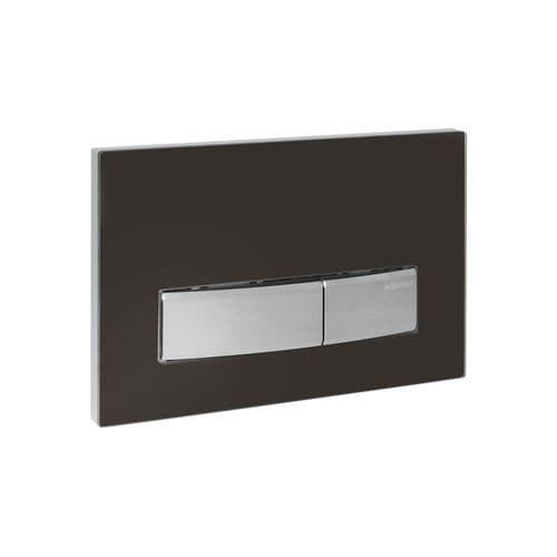 Geberit Sigma50 Umber Glass Dual Flush Plate - 115.788.SQ.5