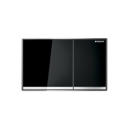 Geberit Sigma60 Black Glass Dual Flush Plate - 115.640.SJ.1
