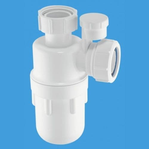 """McAlpine 75mm Water Seal Anti-Syphon (Silentrap) Bottle Trap with Multifit Outlet (1¼"""") - (A10V)"""