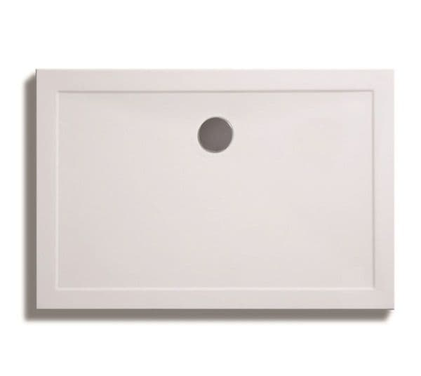Zamori 35mm Rectangular Shower Tray 1200mm x 760mm with central waste
