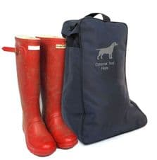 WELLINGTON BOOT BAG WITH DOG BREED LOGO