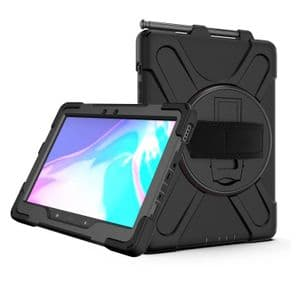 Rugged case for  Samsung Tab A10.1 T540 T545  hand & shoulder strap, kick stand & screen protector