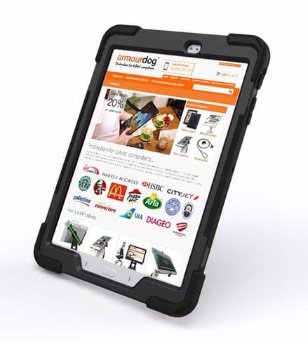 Rugged case for Samsung Tab A10.1 T580 / T585 with hand/shoulder strap kick stand & screen protector