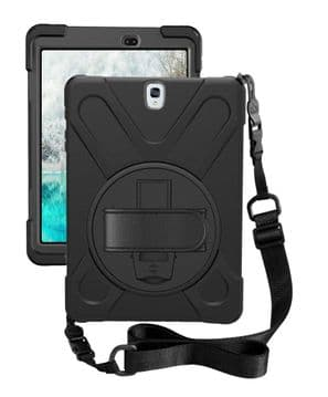 Rugged case for Samsung Tab S3 9.7 T820 / T825 with hand/shoulder strap, stand & screen protector